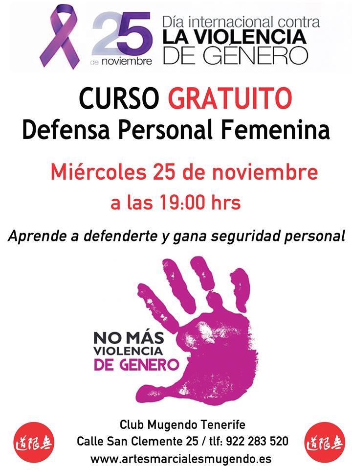 Curso gratuito defensa personal femenino b
