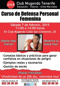 Curso defensa personal femenino 2015. 7 febrero