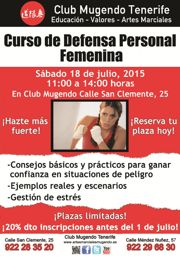 curso defensa personal 18 Julio 2015
